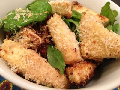 Baked Tofu Coconut-ggets Recipe Image one